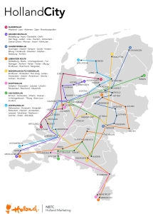 Hollandcity metrokaart