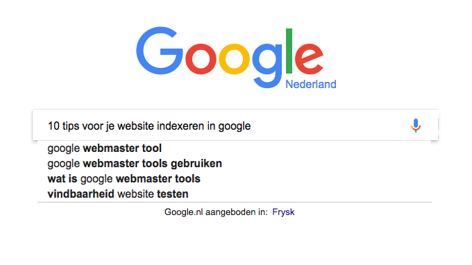 10 tips voor je website indexeren in Google!